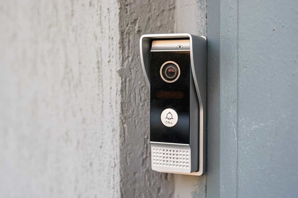 burglar alarm on wall